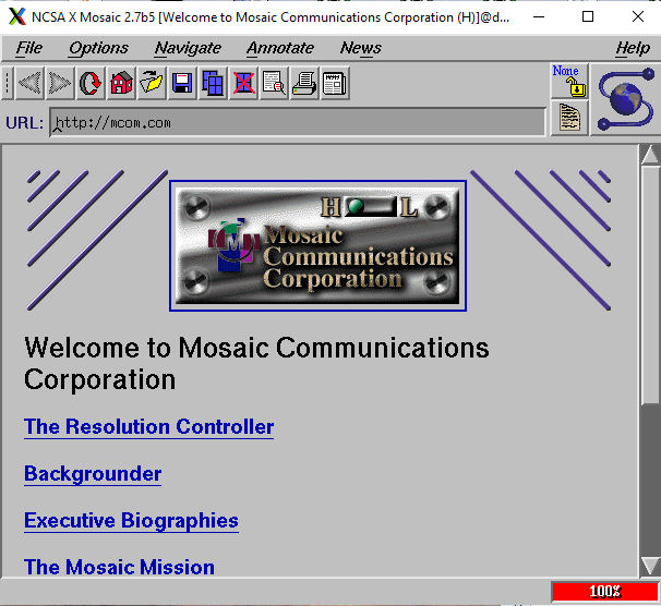 mcom.com on Dell Unix on 86Box
