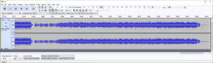 End of recording in Audacity