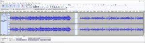 selection of residual noise between tracks